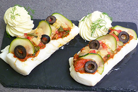 Dos Cabillaud à la Grassoise - plat cuisiné