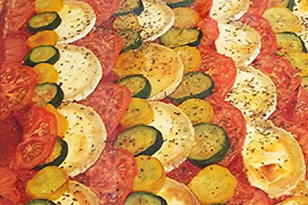Grande Pizza Chevre Legumes - entrée chaude
