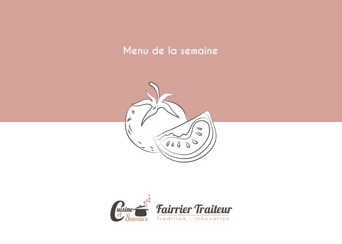 Menu Semaine Traiteur fairrier