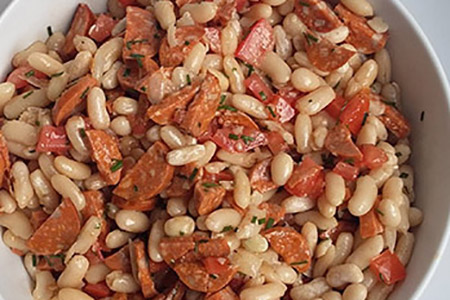 Salade Coco Chorizo - salade créative
