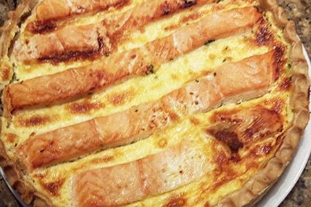 Tourte Saumon Poireaux - entrée chaude