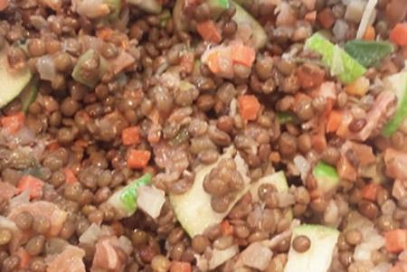 salade lentilles et saumon fumé - salade créative